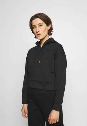 HER FULL ZIP HOODIE - Felpa con zip - black