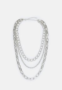 Urban Classics - CLASSIC LAYERING NECKLACE UNISEX - Necklace - silver-coloured - 0