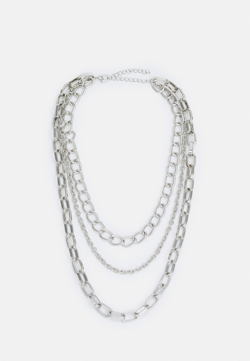Urban Classics - CLASSIC LAYERING NECKLACE UNISEX - Necklace - silver-coloured