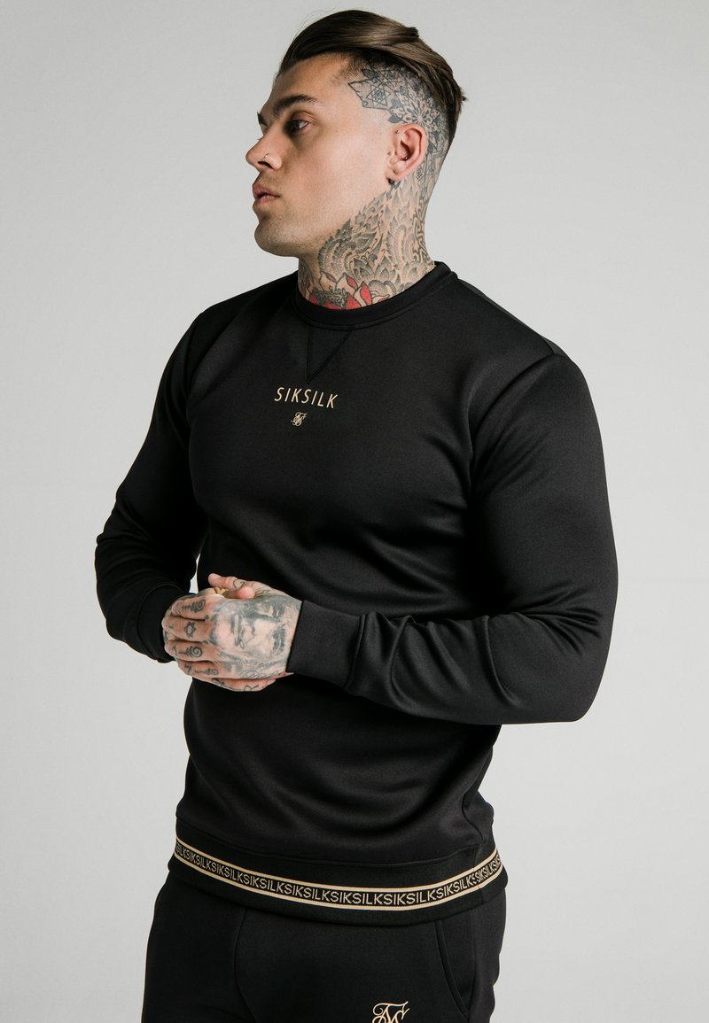 SIKSILK - ELEMENT CREW - Sweater - black/gold