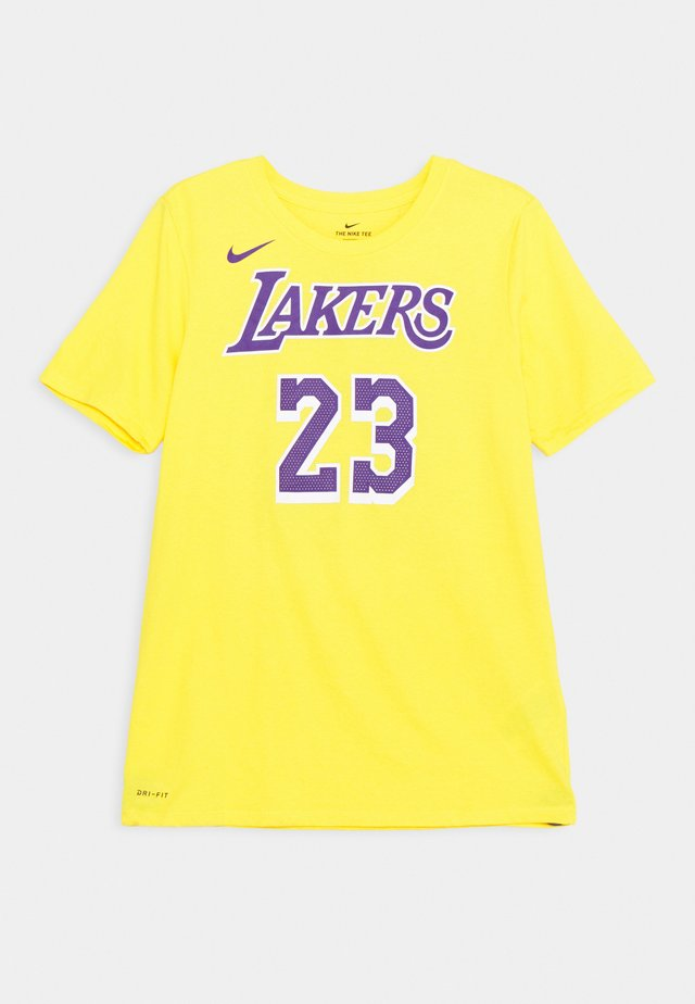 NBA LA LAKERS LEBRON JAMES BOYS ICON TEE - Squadra - amarillo