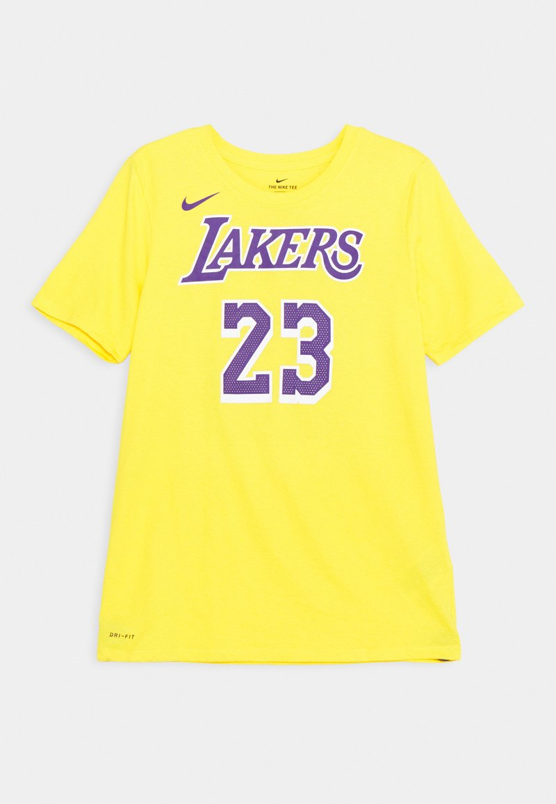 Nike Performance - NBA LA LAKERS LEBRON JAMES BOYS ICON TEE - Klubové oblečení - amarillo
