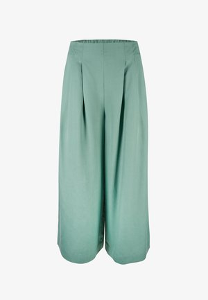 SAGE GREEN WIDE LEG CULOTTES - Trousers - sage