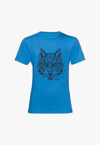 Print T-shirt - sky blue