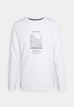 JOHNSON TEE - Maglietta a manica lunga - white
