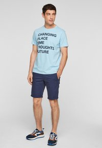 s.Oliver - Print T-shirt - light blue - 1