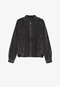Mango - LUNA - Jeansjacke - black denim - 5
