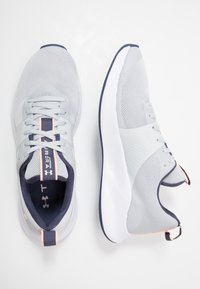 Under Armour - CHARGED AURORA - Sports shoes - halo gray/white/peach frost - 1