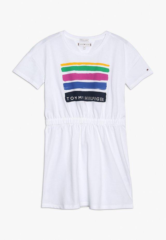 SUMMER DRESS - Žerzejové šaty - white