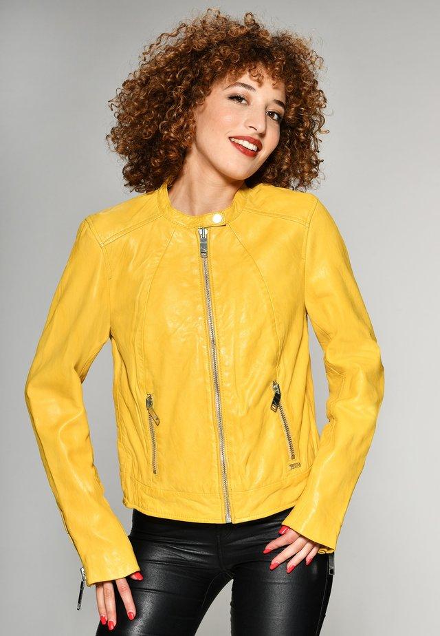 GRENADA - Leren jas - yellow
