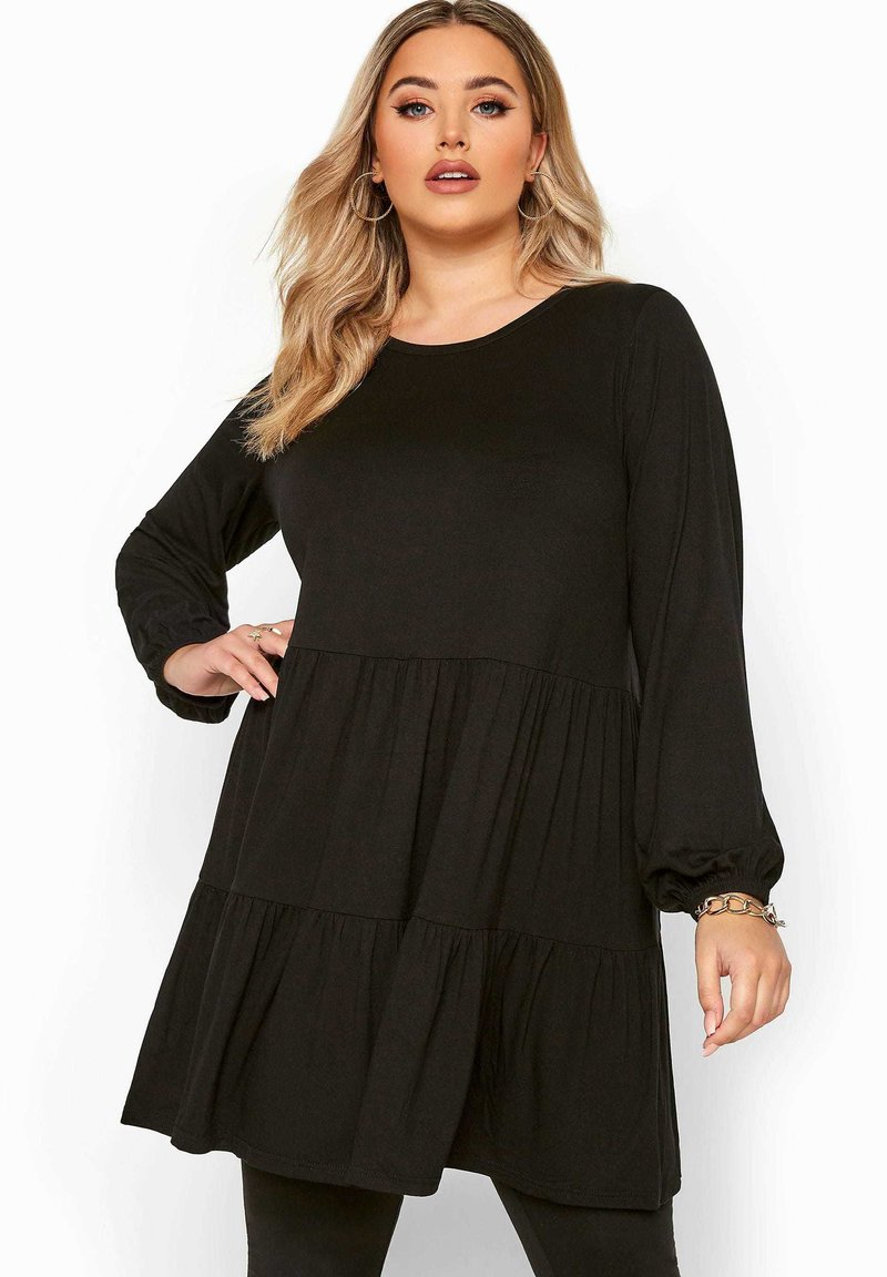 Yours Clothing - Long sleeved top - black