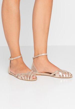 DOO - Peeptoe ballet pumps - platine