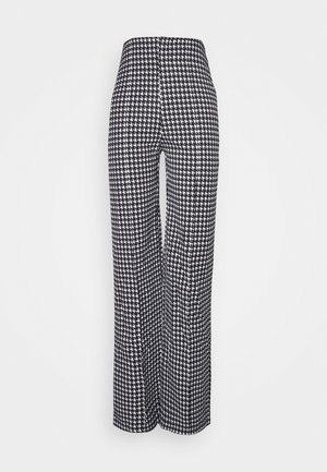 DOGTOOTH STRAIGHT LEG TROUSER - Pantalon classique - black