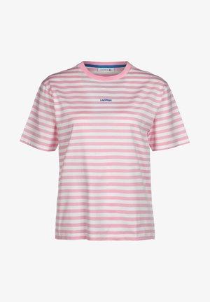 Print T-shirt - rosatre/blanc