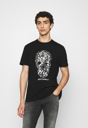 T-shirt med print - black
