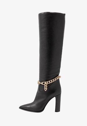 High heeled boots - tango nero