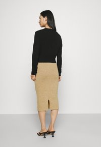 VILA PETITE - VICOMFY SKIRT - Pencil skirt - tiger eye melange - 2