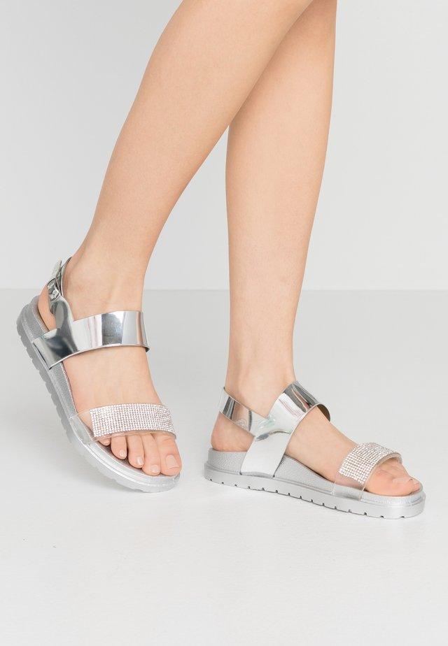 Sandaler - mirror silver
