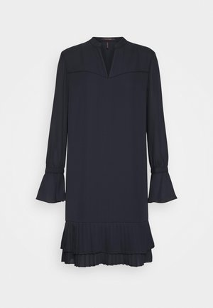 SHORTER LENGTH DRESS WITH PLEATED HEM - Korte jurk - night