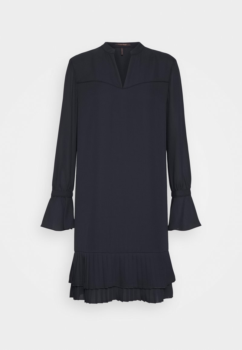 Scotch & Soda - SHORTER LENGTH DRESS WITH PLEATED HEM - Korte jurk - night