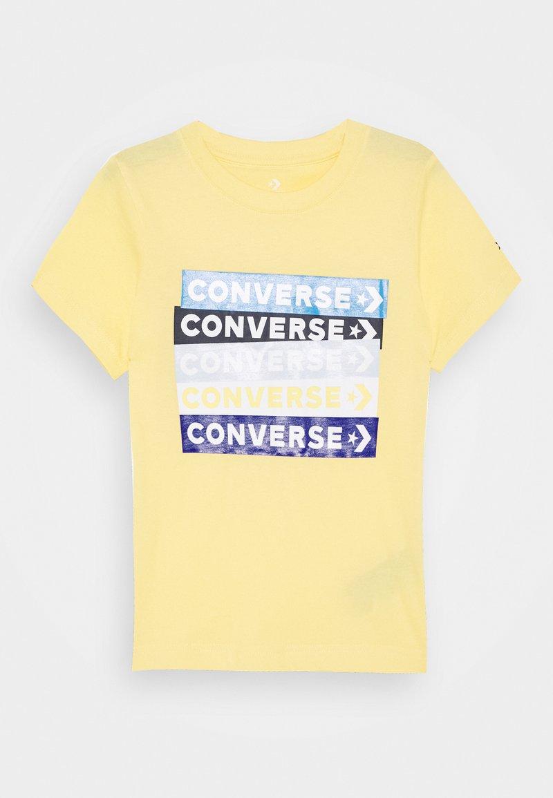Converse - COLOURBLOCKED LOGO TEE - T-shirt imprimé - topaz gold