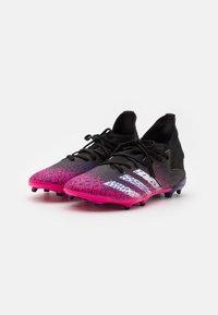 adidas Performance - PREDATOR FREAK .3 FG UNISEX - Moulded stud football boots - core black/footwear white/shock pink - 1