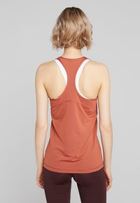 Nike Performance - TANK ALL OVER  - Sports shirt - dusty peach/echo pink - 2