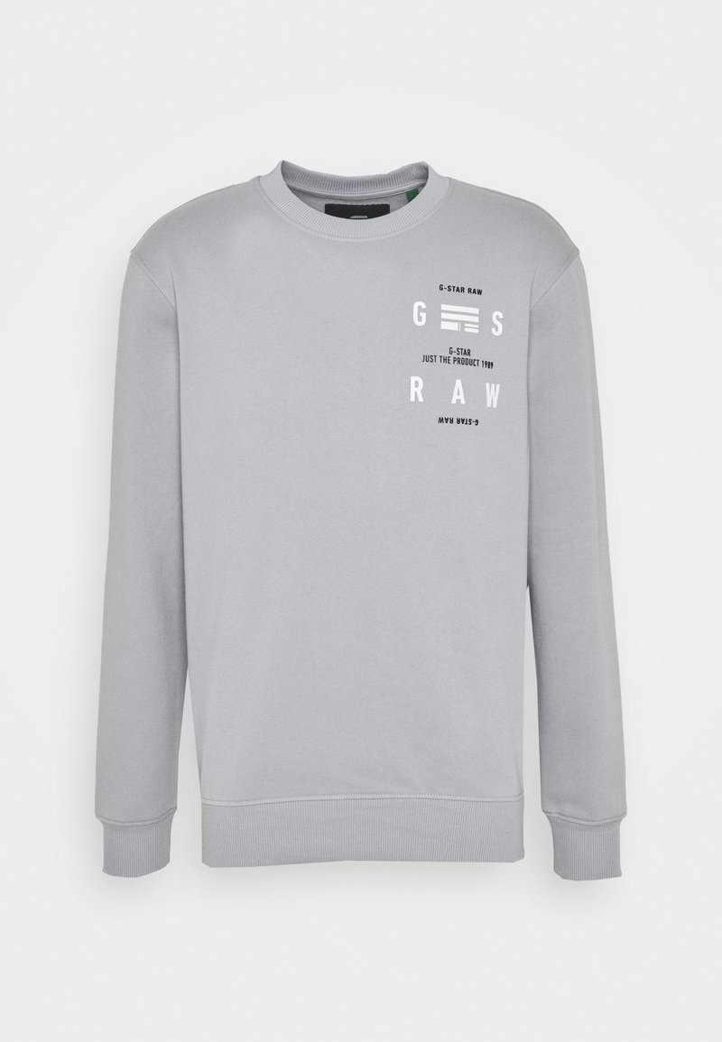 G-Star - BACK PRINT LOGO R SW L\S - Sweater - correct grey