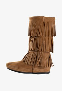 Minnetonka - 3 LAYER FRINGE - Cowboy-/Bikerlaarzen - light brown - 1