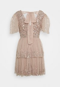 Maya Deluxe - EMBELLISHED TIERED MINI DRESS WITH TIE BACK - Cocktail dress / Party dress - taupe blush - 1