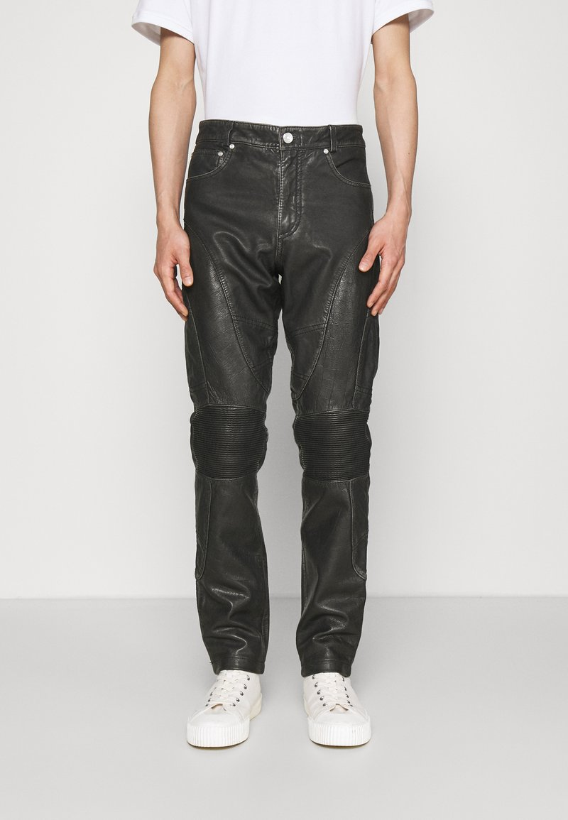 Han Kjøbenhavn - PANTS  - Kožené kalhoty - black