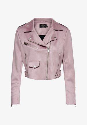 Faux leather jacket - keepsake lilac