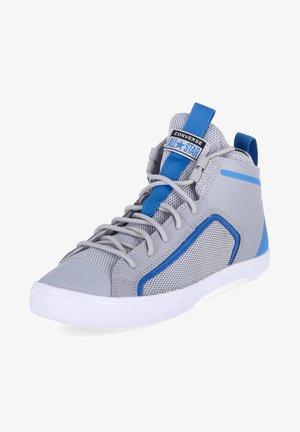 Sneakers hoog - gravel/digital blue