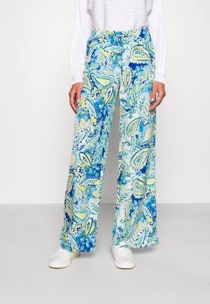 ZIAKASH WIDE LEG PANT - Spodnie materiałowe - blue multi