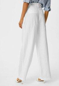 C&A - Spodnie materiałowe - white - 2