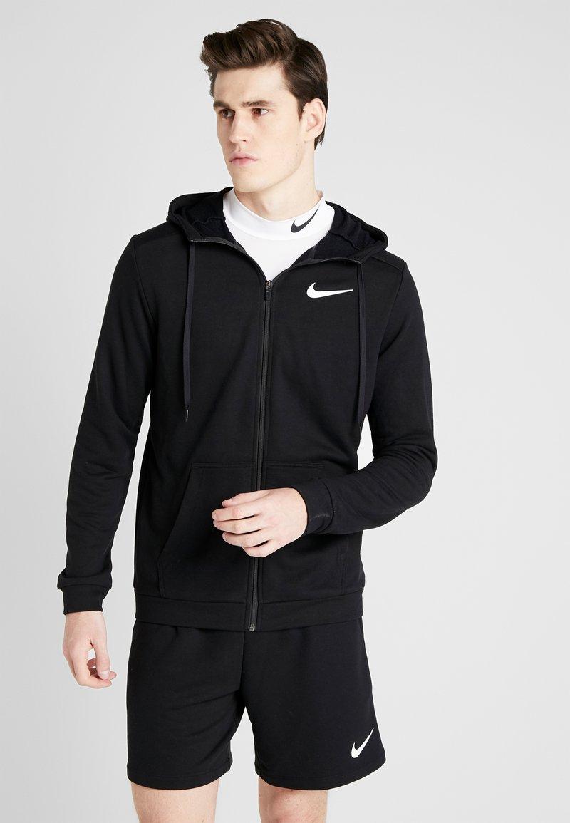 Nike Performance - DRY HOODIE  - veste en sweat zippée - black/white