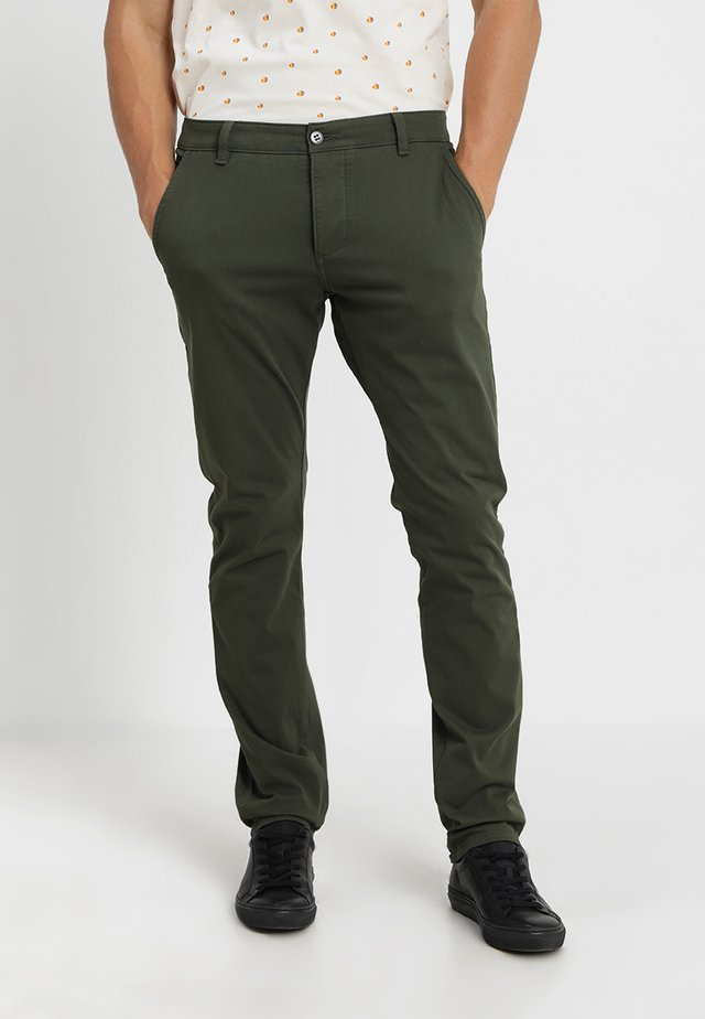 SMART SUPREME FLEX SKINNY - Pantalones chinos - deep depths