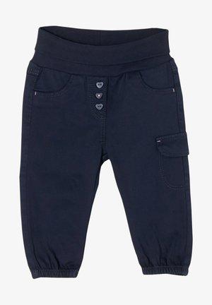 MIT UMSCHLAGBUND - Trousers - dark blue
