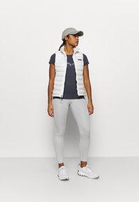 Salewa - SOLID DRY - T-shirt con stampa - premium navy melange - 1