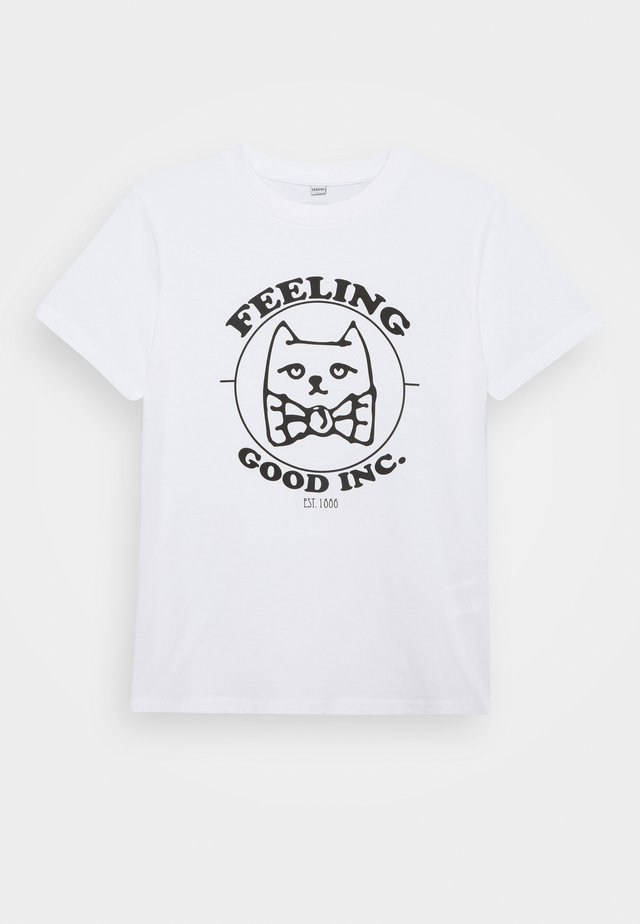KIDS FEELING GOOD TEE - T-shirts med print - white