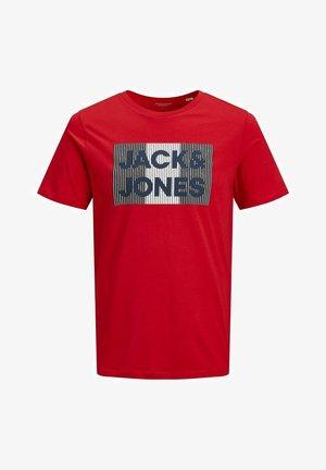 JJECORP LOGO TEE O-NECK - T-shirt print - true red