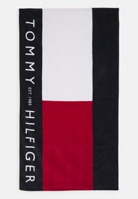 Tommy Hilfiger - CORE FLAG TOWEL - Telo mare - white - 0