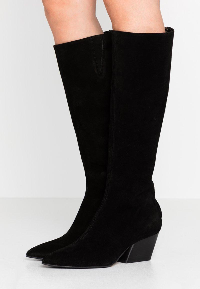 Aeyde - HARPER - Kovbojské/motorkářské boty - black