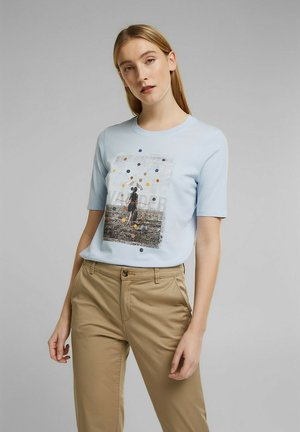 Print T-shirt - pastel blue