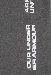 Under Armour - RIVAL WORDMARK HOODY - Hoodie - black light heather/black - 3