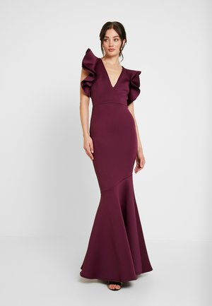 LABEL CUT OUT SHOULDER GOWN - Vestido de fiesta - berry