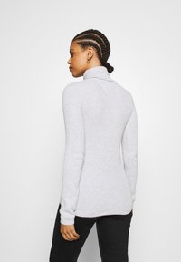 Tommy Jeans - FLAG ROLL NECK - Jumper - silver grey - 2