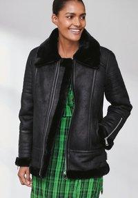 Next - Faux leather jacket - black - 0