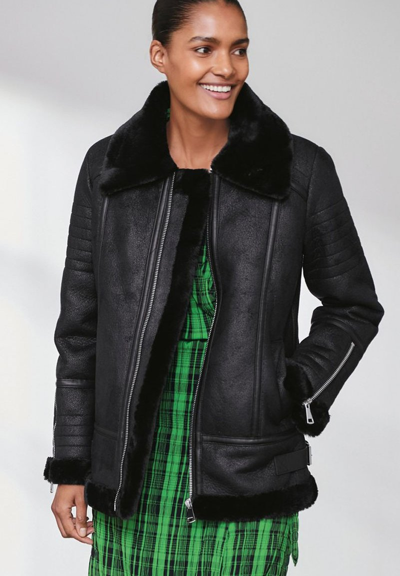 Next - Faux leather jacket - black