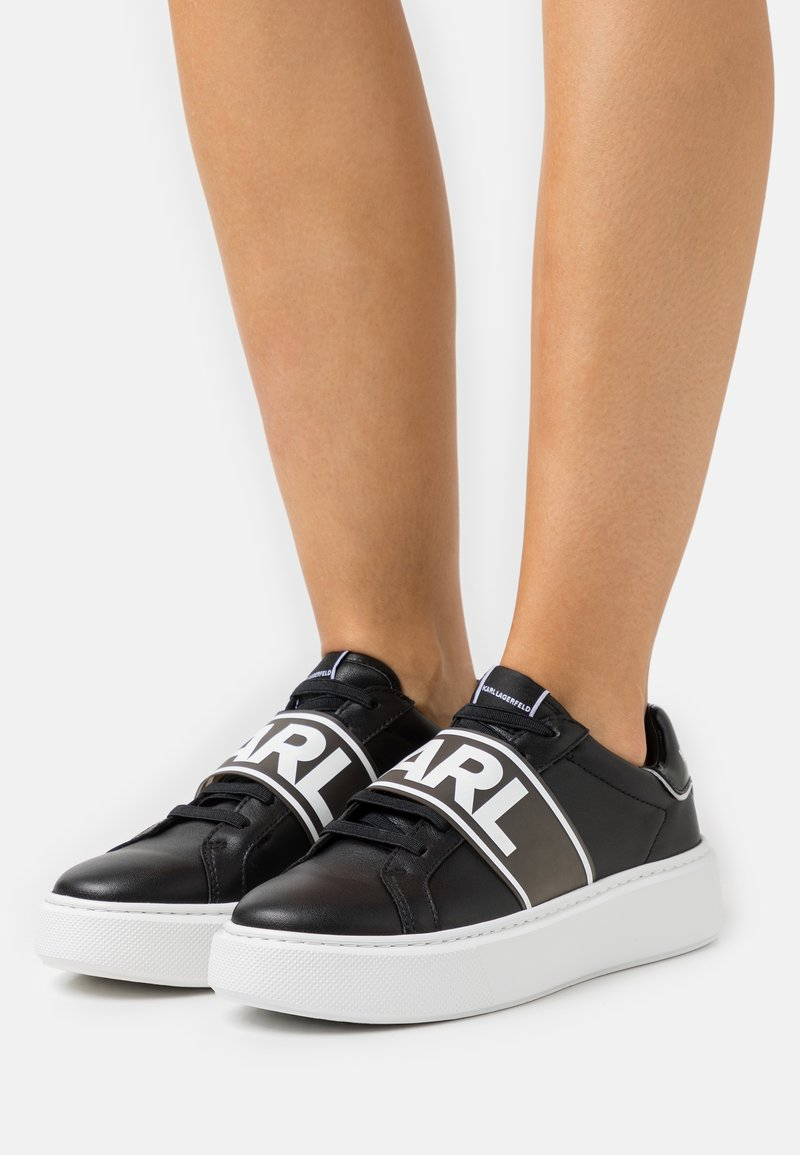 KARL LAGERFELD - MAXI BAND LACE - Sneaker low - black